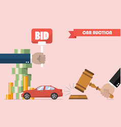 buying selling car from auction vector image