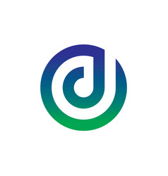 circle letter d business logo vector image