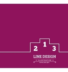 Pedestal thin line icon vector image vector image