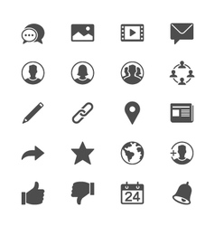 Social network flat icons vector image vector image