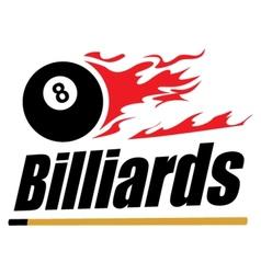 Billiards symbol vector image vector image