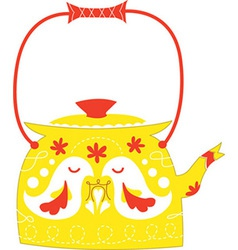 Cute kettle vector image vector image