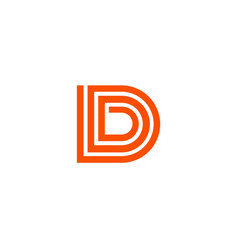 letter d logo line design abstract logo icon des vector image