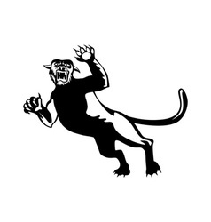 Panther Attacking vector image vector image
