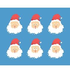 Santa Claus emotions set Christmas character vector image