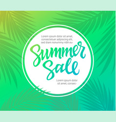 Summer sale - leaflet template with brush vector
