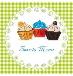 Sweets menu vector image