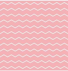 Tile pattern white zig zag on pink background vector image vector image
