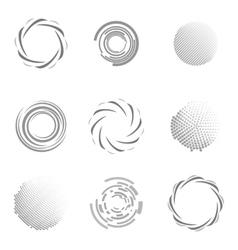 Unusual Icons Set Isolated On White Background vector image