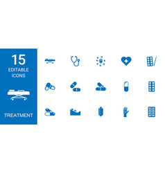 15 treatment icons vector