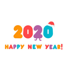 2020 logo colorful numbers with congrats vector image