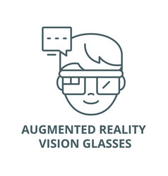 augmented reality vision glasses line icon vector image