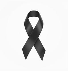 black ribbon band vector image