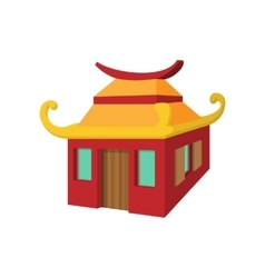 Chinese house cartoon style vector