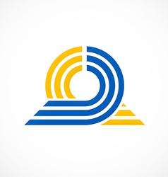 Circle round ribbon abstract connect logo vector