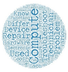 Computer Repair Is A Tricky Business text vector