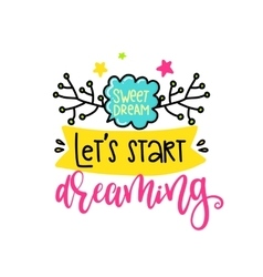 Creative typography card with phrase vector