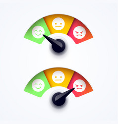 Customer feedback satisfaction meter vector