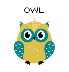 cute owl isolated on white vector image