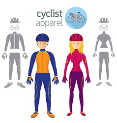 Cyclist Apparel Clothing vector image