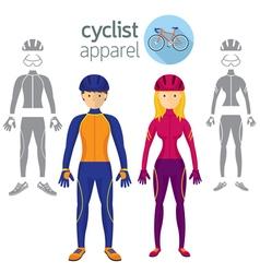 Cyclist apparel clothing vector