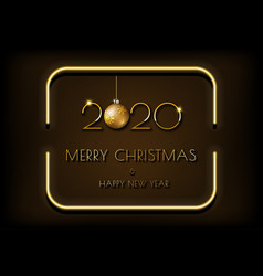 Dark brown background and golden text in bright vector