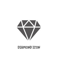 diamond icon simple flat style vector image
