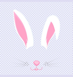 easter bunny ears and nose mask for carnival vector image