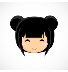 Face of a little cute girl Beautiful background vector image