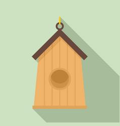 Farm bird house icon flat style vector