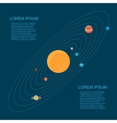 Flat style solar system vector