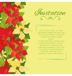 floral background with Poinsettia vector image