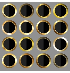 Golden and black rounds vector