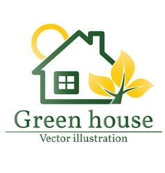 Green house logo Eco house vector