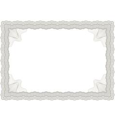 guilloche horizontal frame vector image