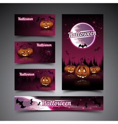 Halloween cards and banner vector image