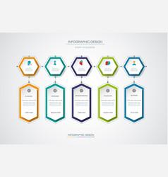 Infographics timeline design template vector