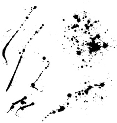 Ink blots lines vector image