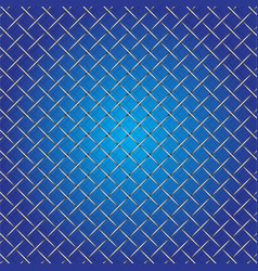 Iron wire mesh and shadow on blue background vector
