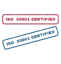 ISO 50001 Certified Rubber Stamps vector