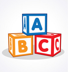 Kids abc letter blocks vector