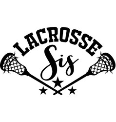 Lacrosse sis on white background vector