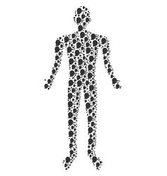 Lier human figure vector