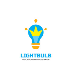 lightbulb - logo template concept vector image