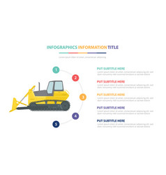 Loader infographic template concept with five vector