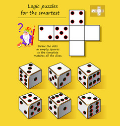 Logic puzzle game for smartest draw dots vector