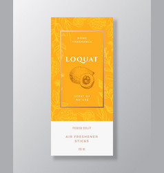 Loquat home fragrance abstract label vector