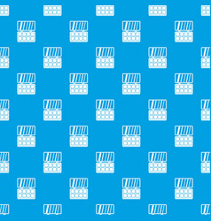 Makeup palette pattern seamless blue vector