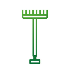 Metal garden pitchfork with plastic handle for vector
