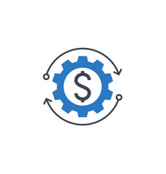 Money making related glyph icon vector